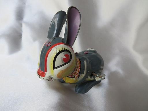 Child's Wind-Up Rabbit Toy