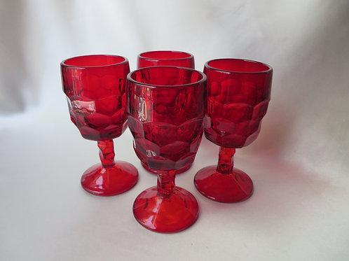 Georgian Viking Ruby Red Goblets