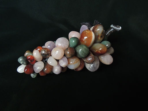 Multi-Colored Gemstone Grapes