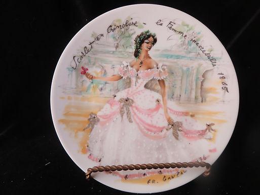 """Scarlet en Crinoline""  Collector's Plate"