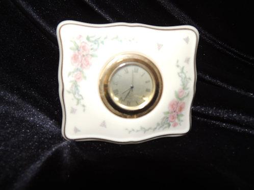 Lenox Porcelain Desk Clock