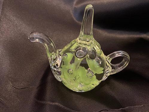Hand-blown Teapot Paperweight