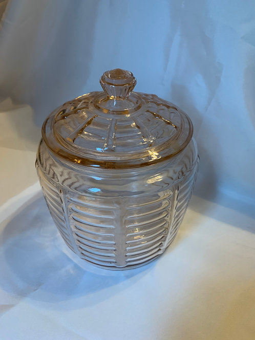 Depression Glass Biscuit Jar