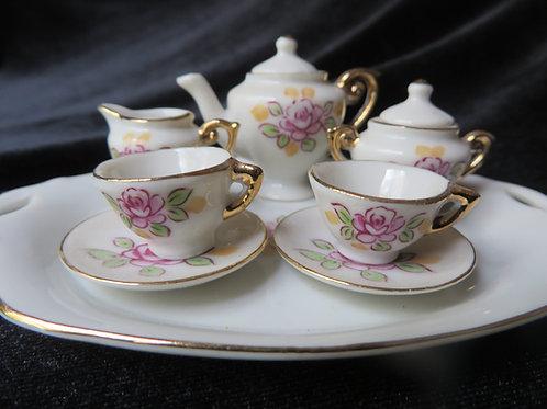 Adorable Doll's Porcelain Tea Set