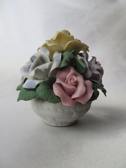 Basket of Porcelain Roses