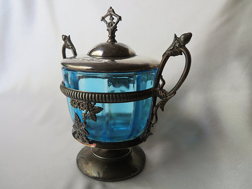 James W Tufts Silver Plated Candy Dish