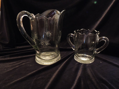 Vintage Water Pitcher with Vase