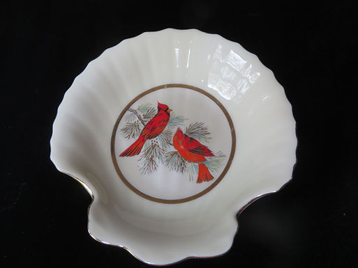 Vintage Cardinal Trinket Tray