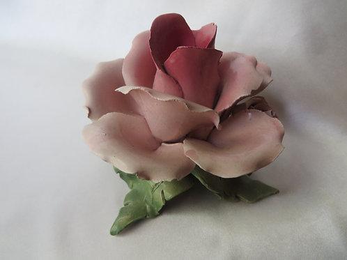 Porcelain Rose Candlestick Holder