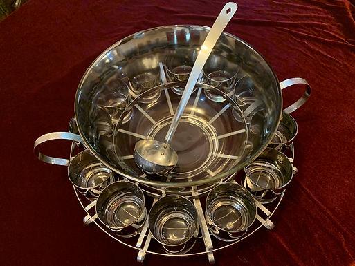 Queen's Lusterware Punch Bowl Set