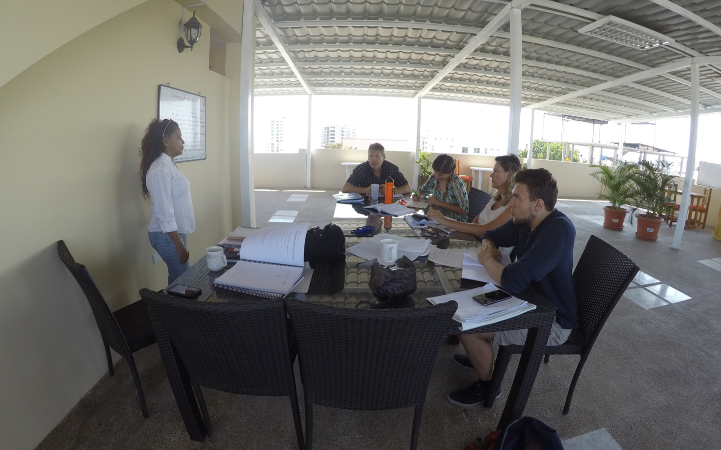 group-spanish-lesson-sur-pacifico-spanish-school-manta
