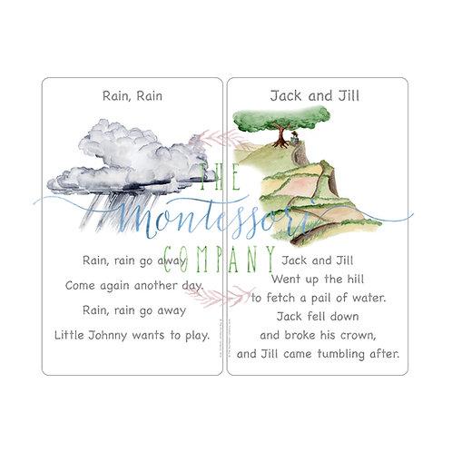 Rhymes Rain Rain, Jack and Jill