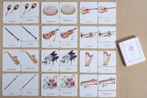 Instruments 3-Part Cards English