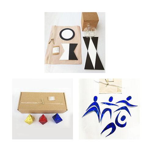 DIY Set of 3 Montessori Visual Mobiles