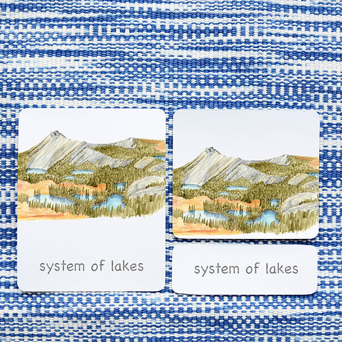 3 PART CARDS: LAND AND WATER FORMS