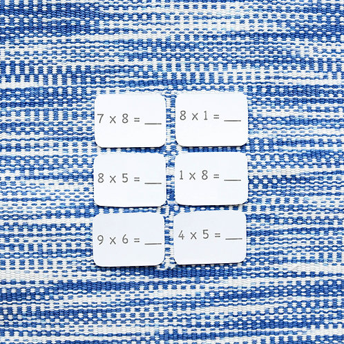Math Ticket Multiplication