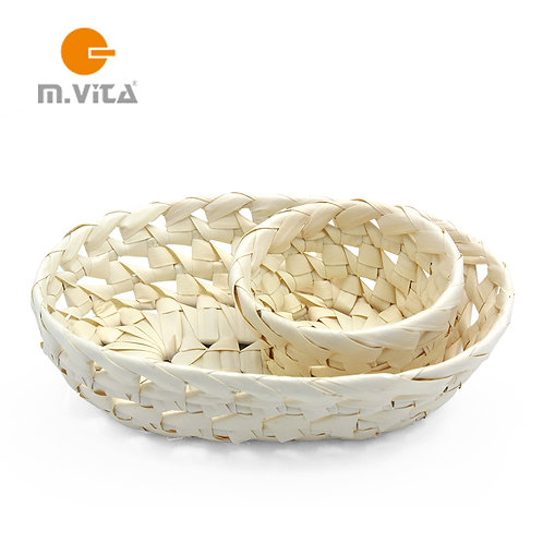Palm Leaf Baskets Set of 2