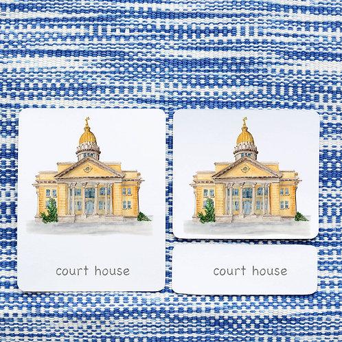 3 PART CARDS: AROUND TOWN