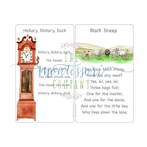 Rhymes Hickory Dickory Dock, Black Sheep
