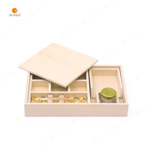 Montessori Wooden Gluing Box Set Glue Box