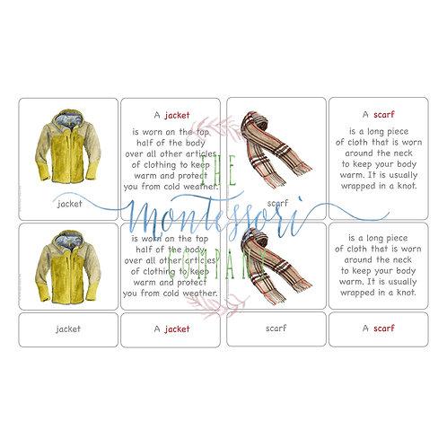 5 PART CARDS: CLOTHES