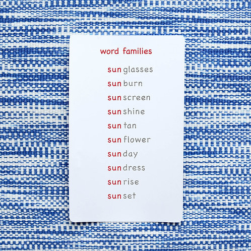 Word Families Full
