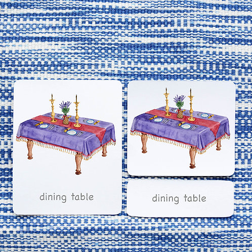3 PART CARDS: DINING ROOM