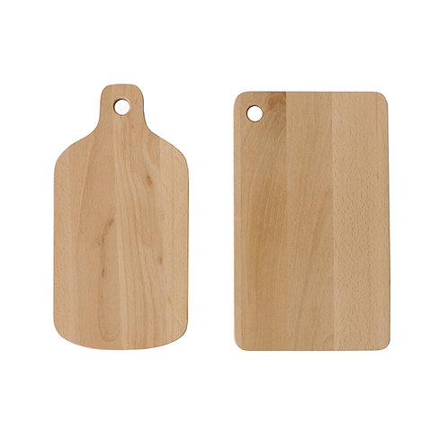 Small Cutting Board for Kids Natural Breech Wood