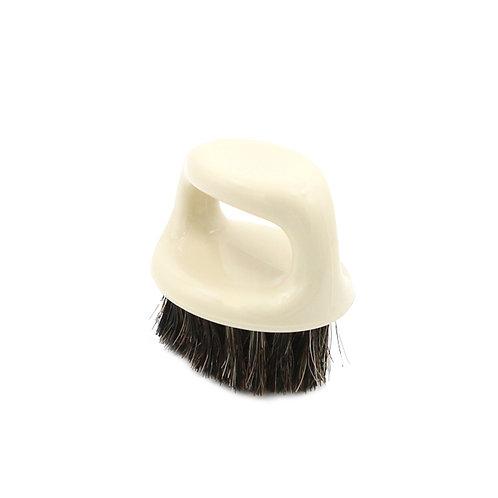 Horse Hair Palm Brush Cleaning Brush Plastic Handle Cream Color