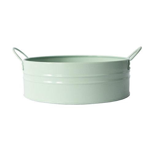 Metal Washpan/Basin Pale Green