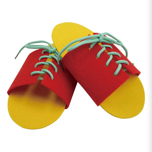Lacing Shoes Educational Toy Practical Life Activity