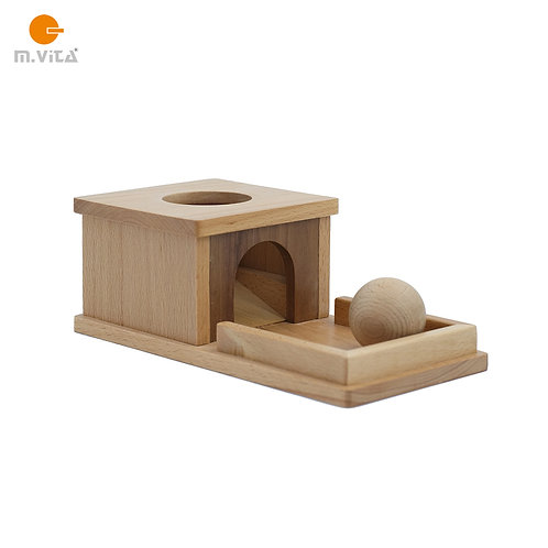 Box with Ball and Tray Montessori Eye-hand Coordination Material