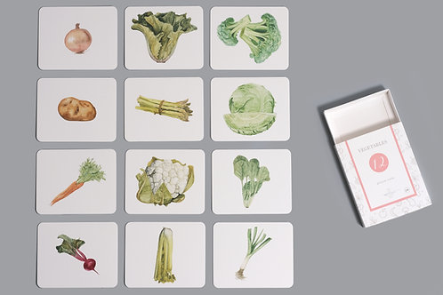 Vegetables Nomenclature/Classified Cards for IC