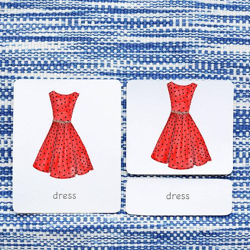 3 PART CARDS: CLOTHES