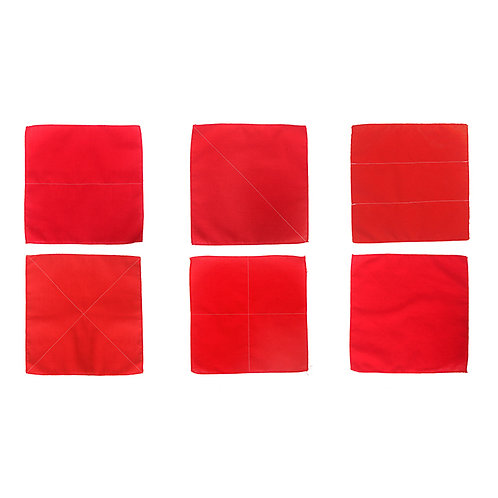 Six Folding Cloths Red and Blue Options
