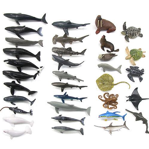 Mini Sea Animals Replicas 34pcs Set