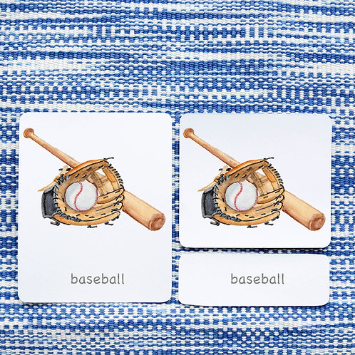 3 PART CARDS: SPORTS