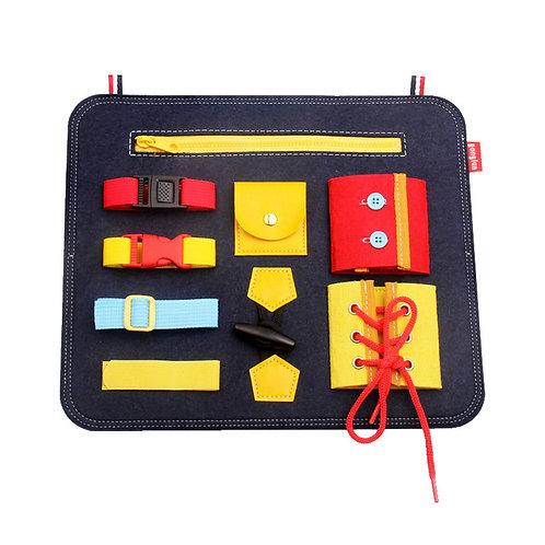 Busy Board Montessori Practical Life Blue