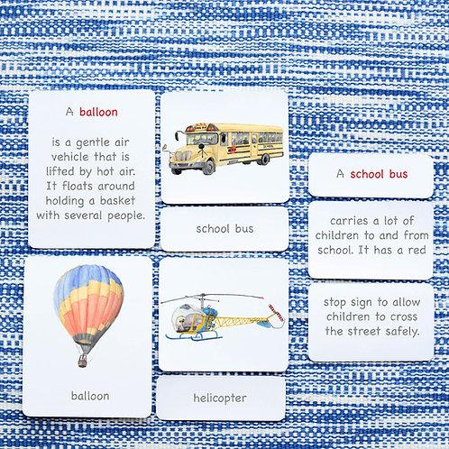 5 PART CARDS: TRANSPORTATION