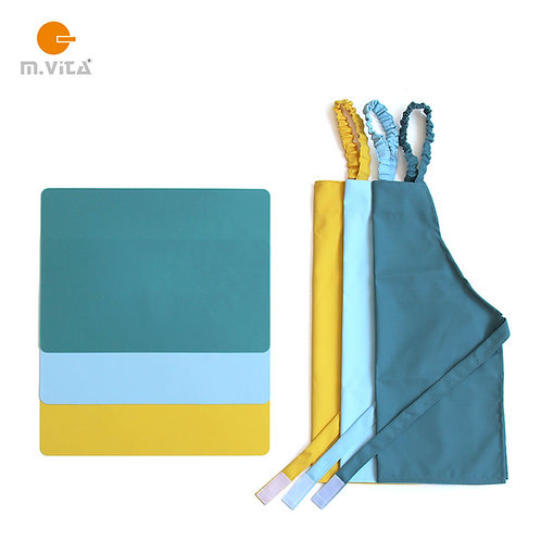 Waterproof apron and silicone working mat