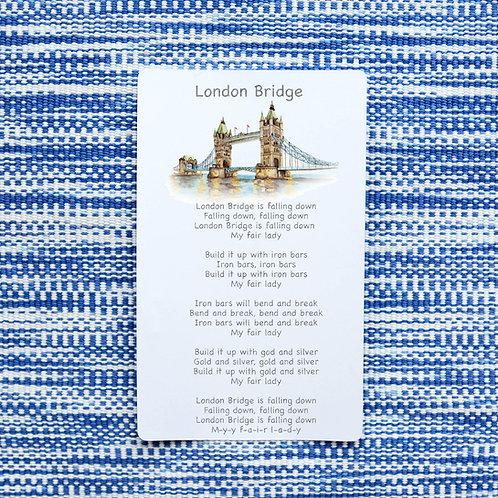 Songs 5 Little Ducks, London Bridge