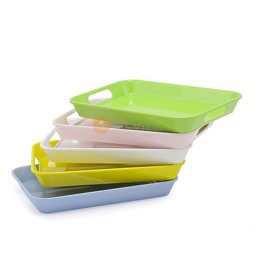Set of 5 Melamine Trays with Color Options