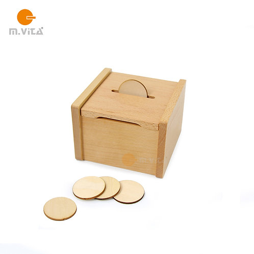 Slotted Box with Chips Montessori Material for Toddlers