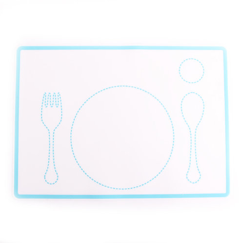 Easy to Wash Montessori Dining Mat with Patterns Silicone Placemat