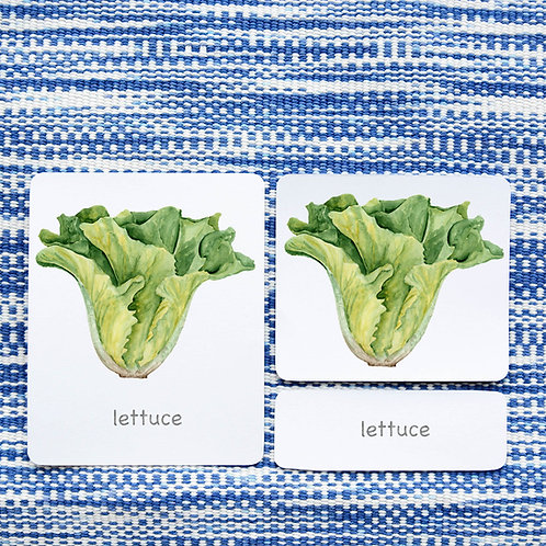 3 PART CARDS: VEGETABLES (English)