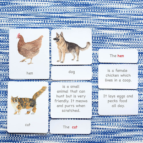 5 PART CARDS: FARM