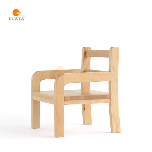 Montessori Weaning Chair for Toddlers Natural Wood