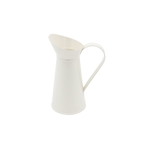 Metal Pitcher Cream Color