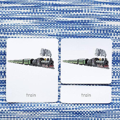 3 PART CARDS: TRANSPORTATION