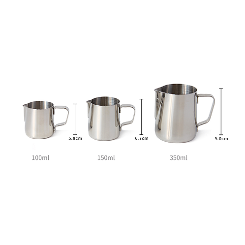 Stainless Steel Pitcher Options 100ml,150ml, 350ml
